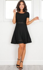 Be Your Shadow dress in black