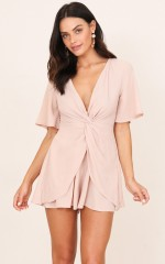 Believe In Me playsuit in beige