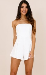 Best Shot playsuit in white