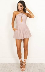 Shine Together playsuit in mocha