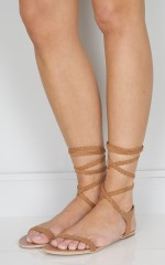 Billini - Tinder in tan suede