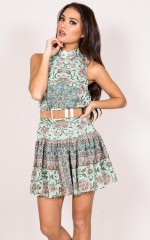 Pity Party Dress in mint
