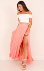 Break A Leg Maxi Skirt in pink