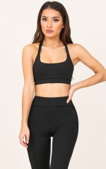 Breakthrough Crop Top in Black