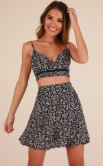 Bring The Fire two piece set in navy print