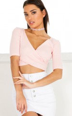 Call Me Cute crop top in light pink
