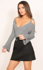 Charming Girl knit top in grey