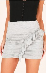 Cherry Sweet mini skirt in grey marle
