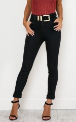 Christina Skinny Jeans in Black Denim