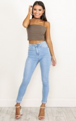 Christina Skinny Jeans in Light Wash Denim
