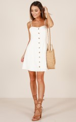 City Girl dress in cream