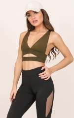 City Sleeker crop top in khaki