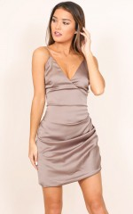 Come And Play dress in taupe