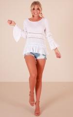 Daniella top in white