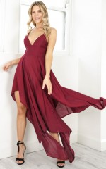 Die For Me maxi dress in wine