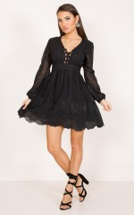 Down By The Pier dress in black