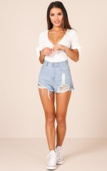 Emily Shorts in Mid Wash Denim