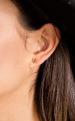 Love Conquers All 3 piece set earrings in gold