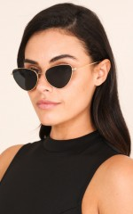 Every Last Heart sunglasses in gold and black