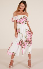 Favorite Place jumpsuit in white floral
