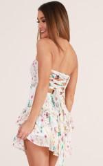 Feeling Better dress in white floral