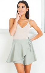 Fine By Me skort in light khaki