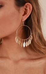 First Light earrings in gold