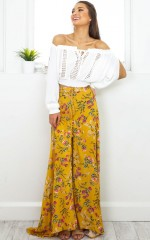 Flourish maxi skirt in yellow floral
