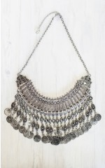 Frankly My Dear - Kuchi Turkish Coin necklace in silver