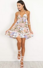 Going Strong Dress in pink floral