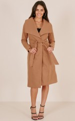 Great Expectations coat in camel