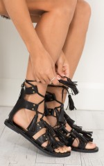 Goliath Sandals in Black
