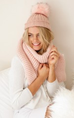Gumdrop beanie in blush