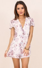 Hey Sunday playsuit in purple print