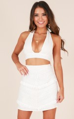 Hometown skirt in white