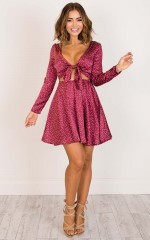 Invisible Dream dress in red polka dot