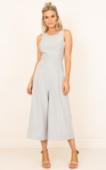 Jacinta jumpsuit in navy stripe