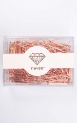 Office Space 100 pc Paperclips in rose gold