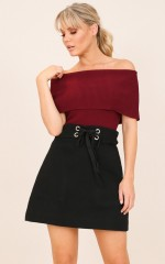 Just For Now skirt in black