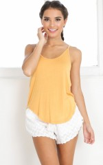 Keep It Cozy top in yellow