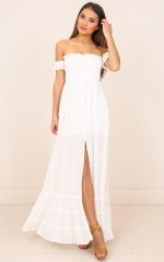 Kiss Me Softly maxi dress in white
