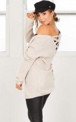 Right of Way Cardigan in beige