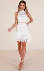 Last Requests dress in white lace