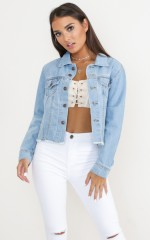 Learn To Love denim jacket in light wash