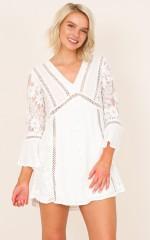 Like A Bird dress in white