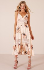 Lily Field maxi dress in peach floral