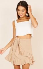 Listen Up skirt in beige