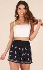 Little Miss Sunshine shorts in navy