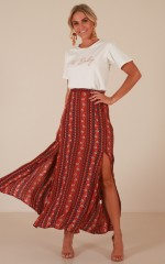 Longest Day maxi skirt in red print