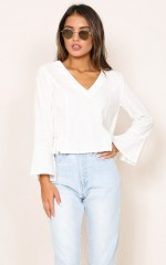 Lost In The Light top in white